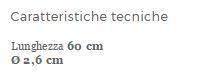 IMPUGNATURA DI SICUREZZA PER BAGNO IN ACCIAIO VERNICIATO - 60 cm - Maniglie e impugnature di sicurezza