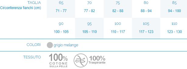 CINTURA LOMBARE STECCATA - LEGGERA (H 24/27) - Corsetto lombare