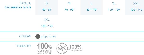 CORSETTO LOMBO-SACRALE BASSO (H 27CM) - Sostegno lombo-sacrale