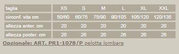 Criss-cross 78 - Nero - Corsetto lombare