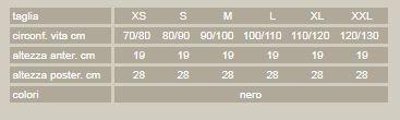 Lite-cross 90 - Nero - Corsetto lombare