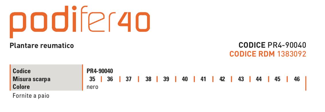 Podifer40 - Plantare anatomico