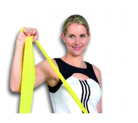 Banda elastica leggera gialla 2,50 mt - Banda Elastica