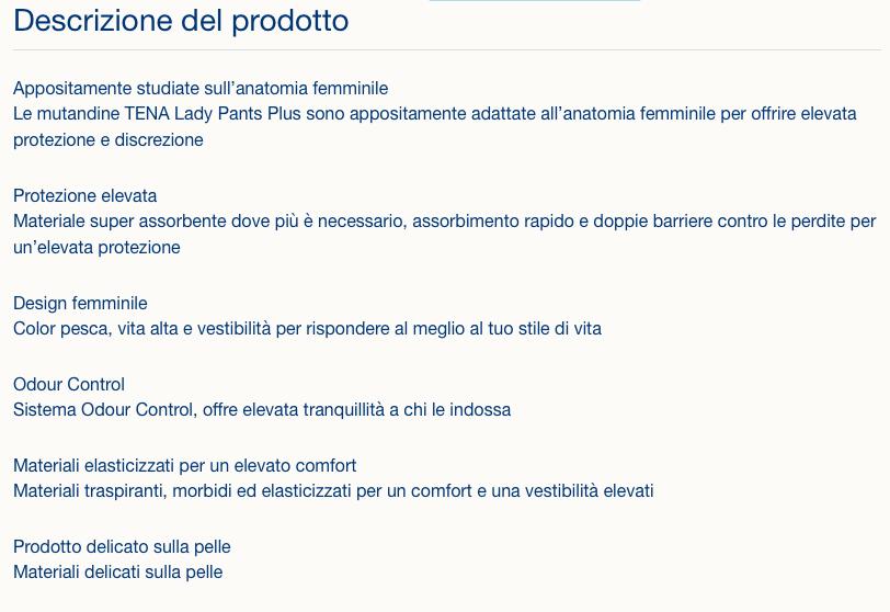 Lady Pants - Plus - TenaMutandina assorbente