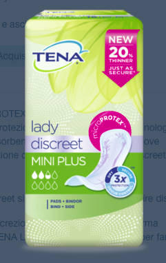 Lady - Discreet Mini Plus - Proteggi slip