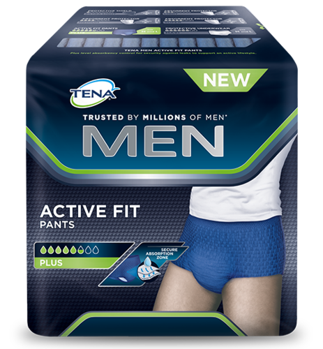 Men - Active Fit Pants - Rimedi incontinenza