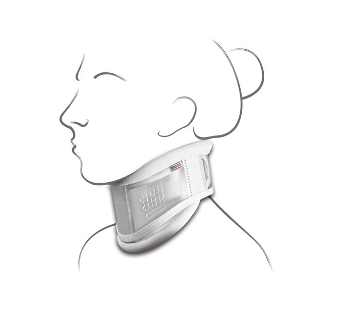 "Collare cervicale ""NEW SCHANZ"" trasparente, altezza regolabile a velcro - Collare cervicale tipo ""Schanz"""