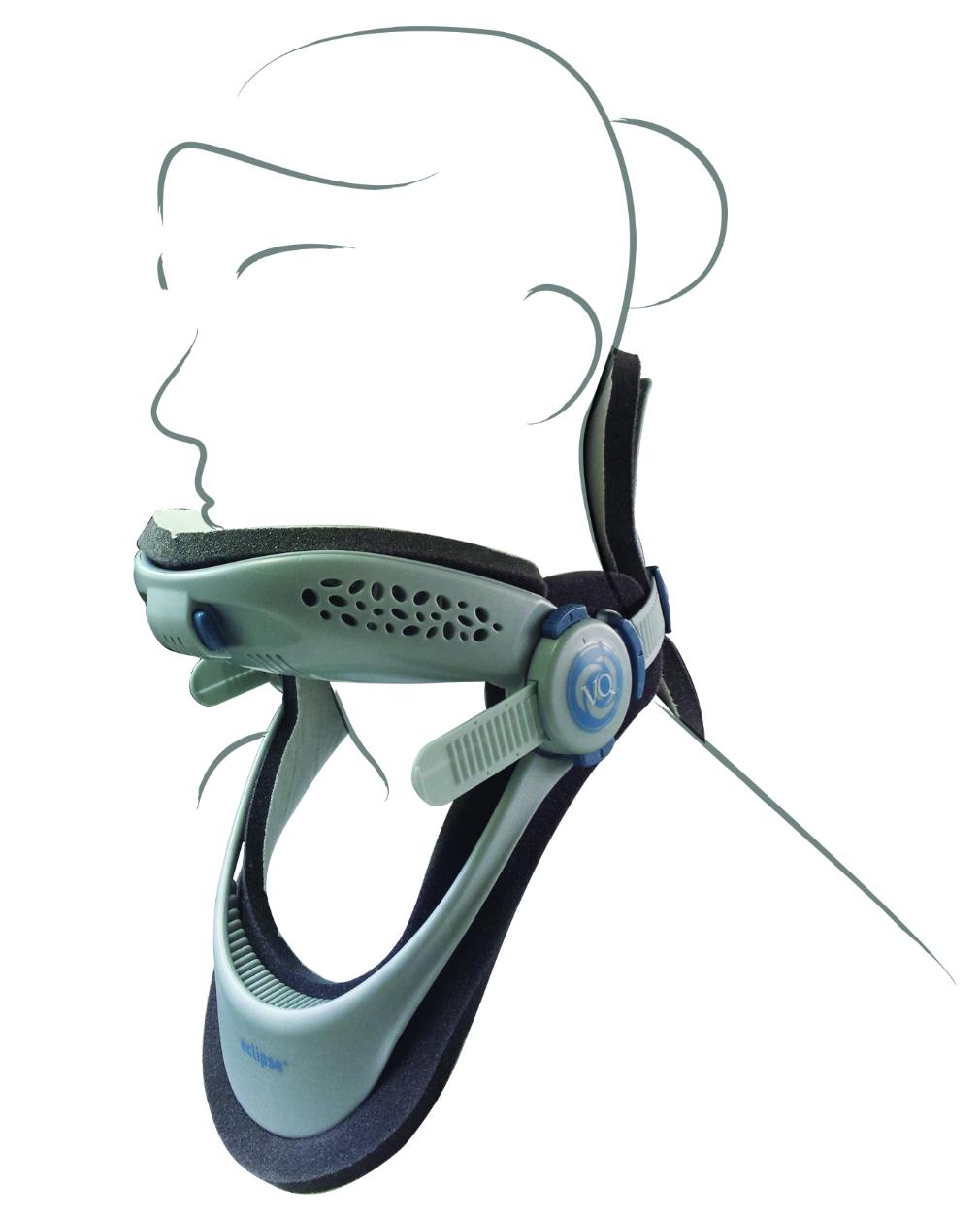 """Collare cervicale """"ECLIPSE"""" con foro tracheale  - Collare cervicale universale"""