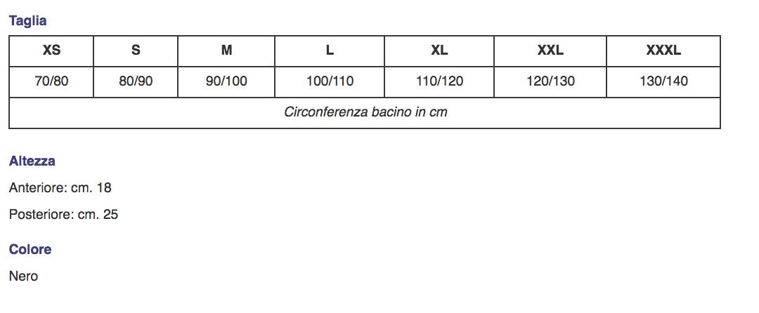 """Corsetto in tessuto spacer """"NEW BERNA"""" lombare nero - Corsetto lombare in tessuto spacer"""
