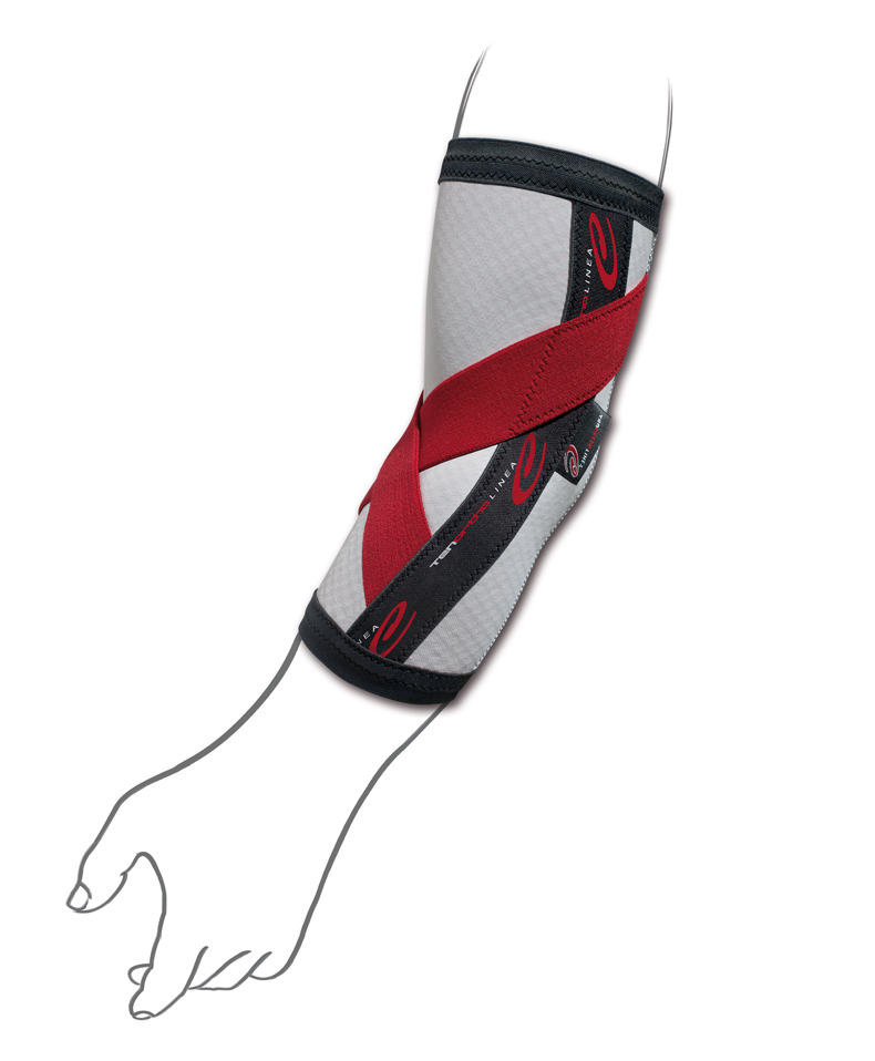 """Gomitiera elastica con fibra di carbonio e taping integrato """"C ELBOW®""""  - Gomitiera elastica con fibra di carbonio e taping integrato"""