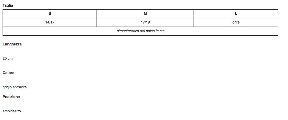 """Polsiera steccata """"MANUTONIC"""" in fibra di carbonio - Polsiera steccata ambidestra in fibra di carbonio"""