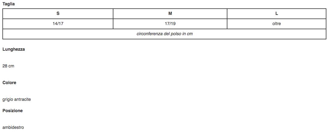 """Polsiera steccata """"MANUTONIC LONG"""" in fibra di carbonio - Polsiera steccata ambidestra in fibra di carbonio"""