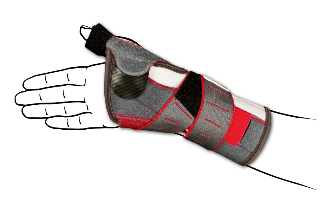 """Presa pollice """"RAZZA MANUTONIC"""" in fibra di carbonio - Thumb splint"""