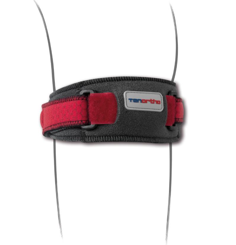 """Cinturino sottorotuleo """"T&ON"""" in moltoprene velcrabile con C6Tex con pressore - Cinturino sottorotuleo in neoprene"""