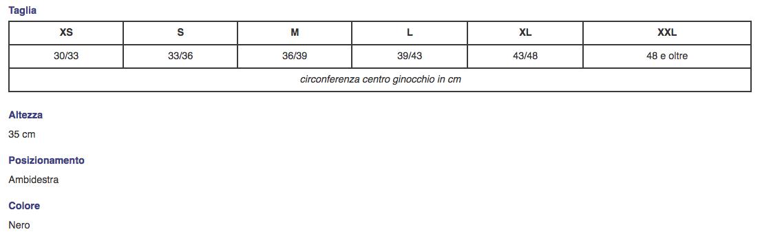 """Ginocchiera tubolare in tessuto spacer """"NEWMESH"""" con stabilizzatore rotuleo - Ginocchiera in tessuto spacer con stabilizzatore rotuleo"""