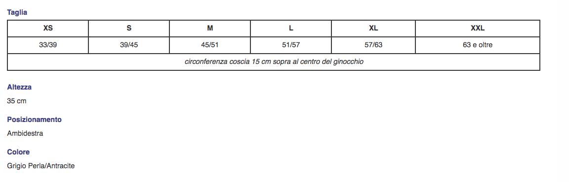 """Ginocchiera tubolare """"GENU-TONIC"""" con aste articolate a controllo F-E Corta - Ginocchiera elastica con aste articolate e regolazione della flesso-estensione"""