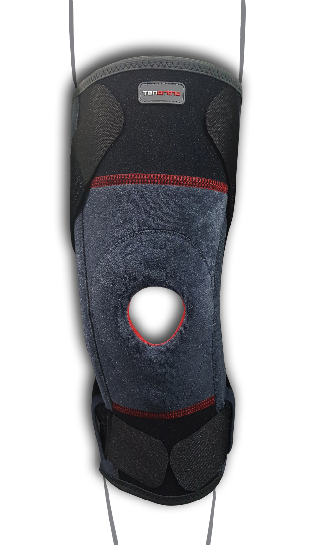 """Ginocchiera modulare con tessuto taping e tiranti elastici mobili """"TENO-DOL"""" - Ginocchiera elastica con stabilizzatore rotuleo dinamico"""