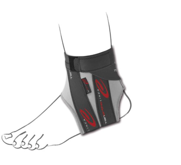 """""""C ANKLE®""""  Cavigliera elastica con fibra di carbonio e taping integrato -  Cavigliera elastica con fibra di carbonio e taping integrato"""