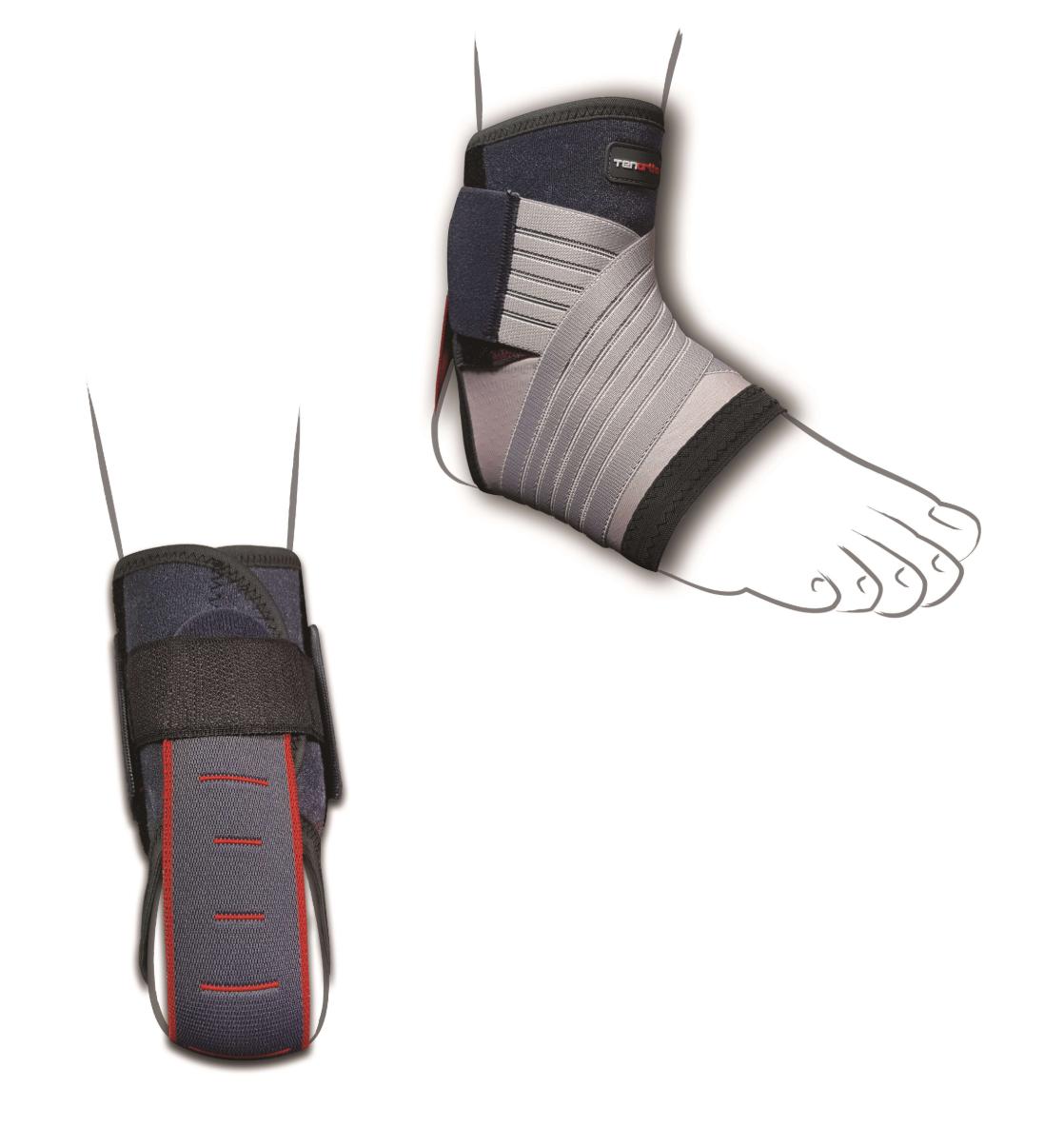 """Cavigliera elastica in fibra di carbonio con tirante posteriore """"STIGE"""" - Cavigliera elastica in fibra di carbonio con tirante posteriore"""