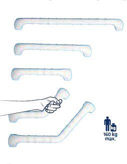 Barra di appoggio antiscivolo - Maniglie per disabili bagno