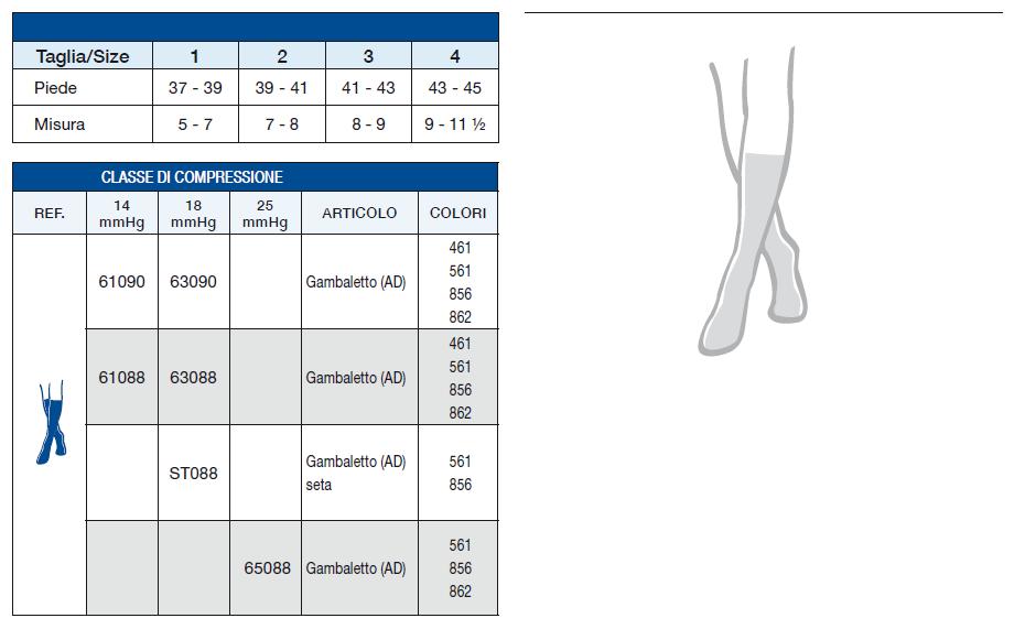 LUI & LEI - Gambaletto in cotone -  Calze a compressione graduata